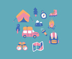 Colorful Camping Items