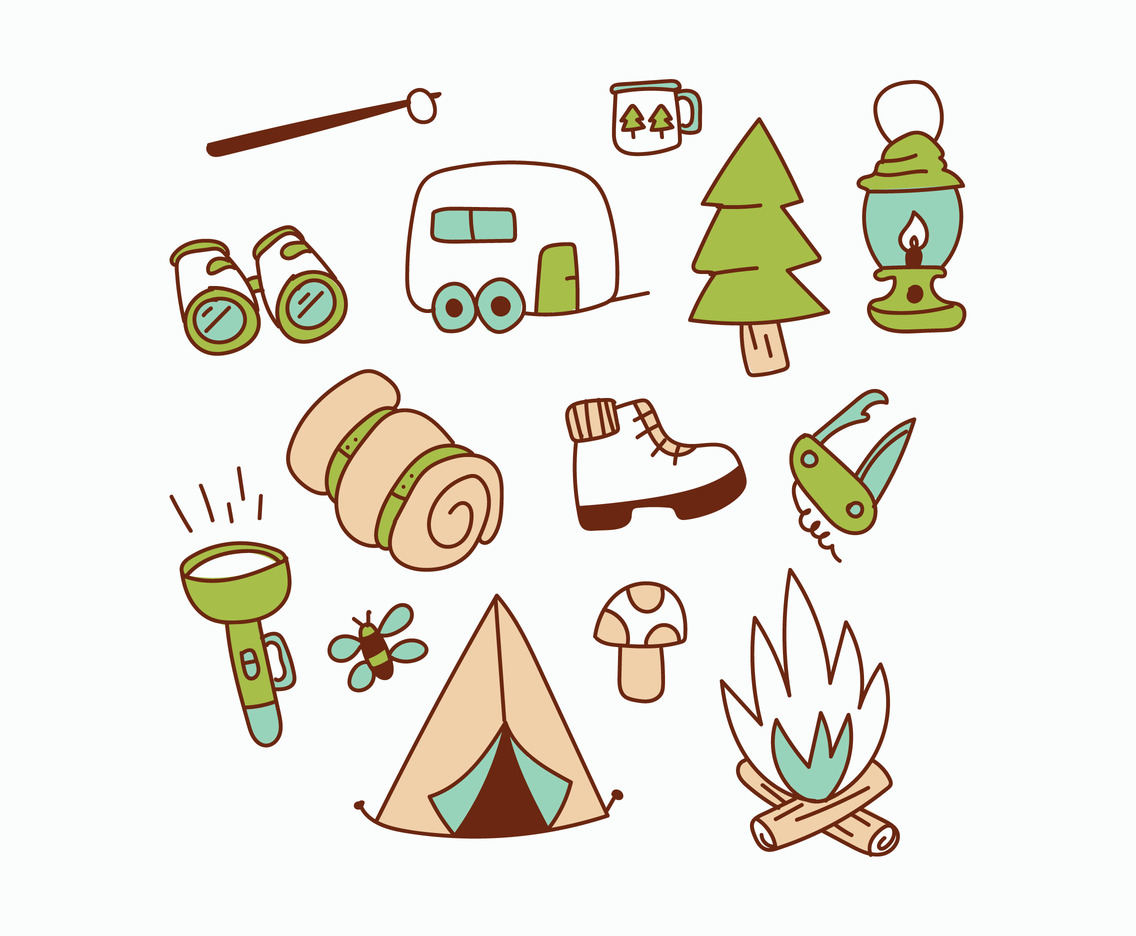Camping Supply Doodles