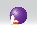 Gymnastic Ball And Vitamins