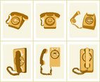 Various Rotary Dial Telephones Vector