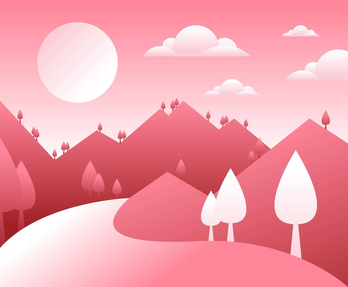 Mountain Landscape First Person Illustration Vector #2