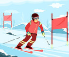 Professional Skier Vector