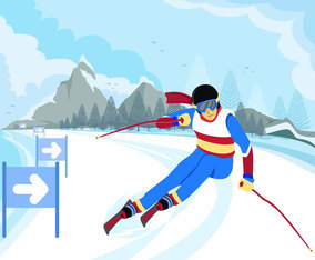 Advanced Skier Vector