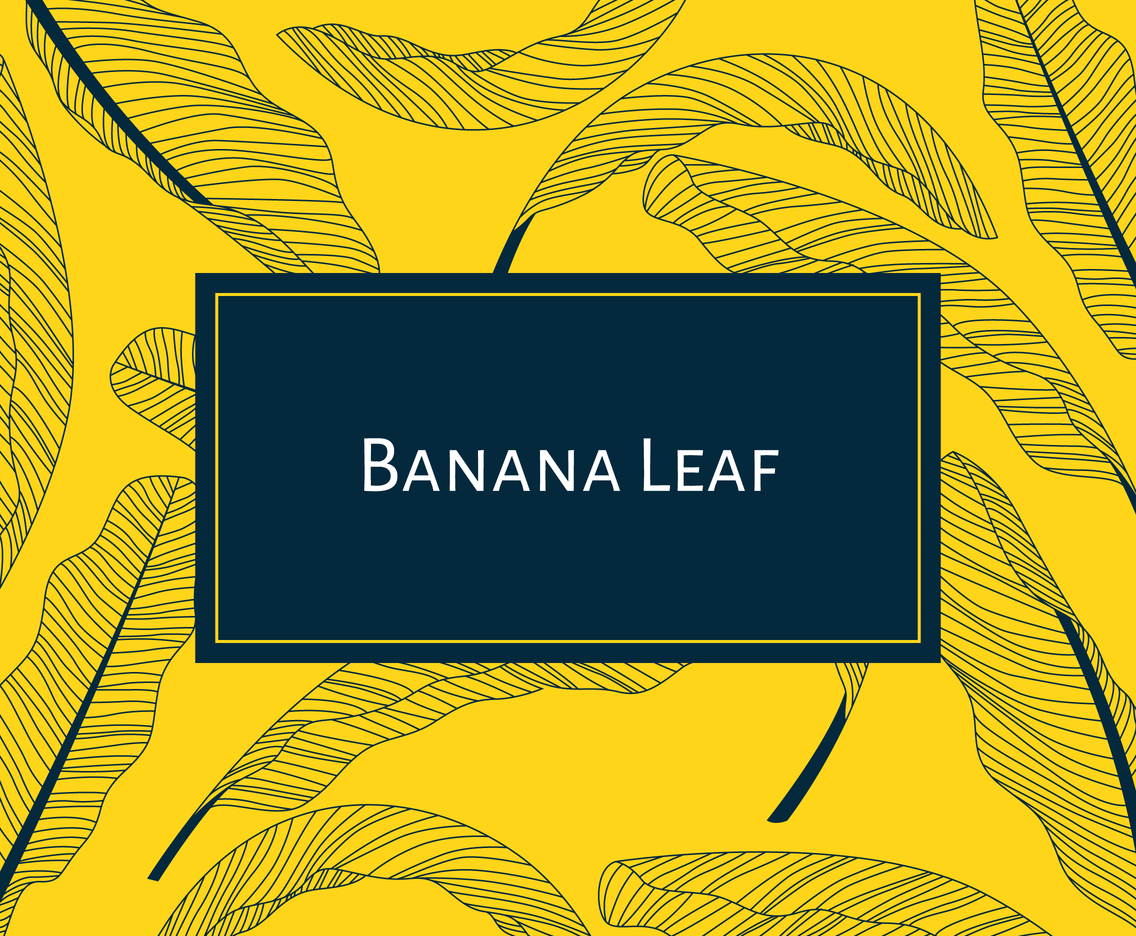 Banana Leaf Outline Background