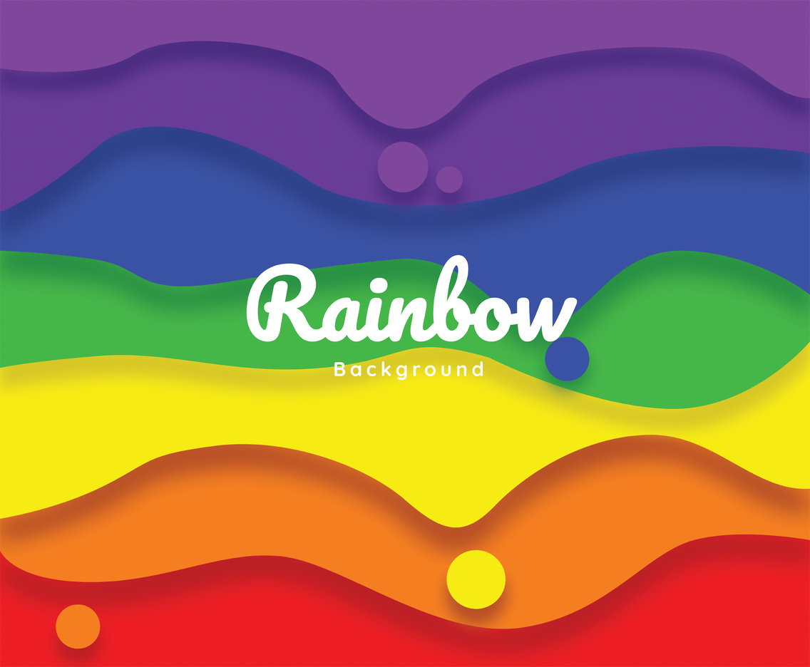 Rainbow Background Vector Design