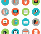 Colorful Flat Business Icons