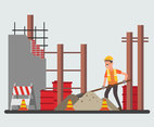 Factory Renovation Worker Vector