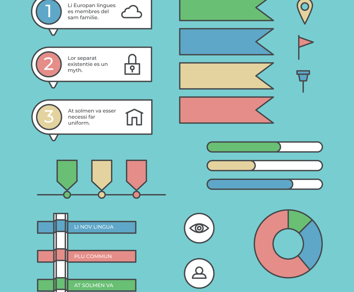 Colorful and Outlined Set Of Business Related Elements