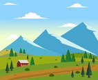 Mountains Area Vector