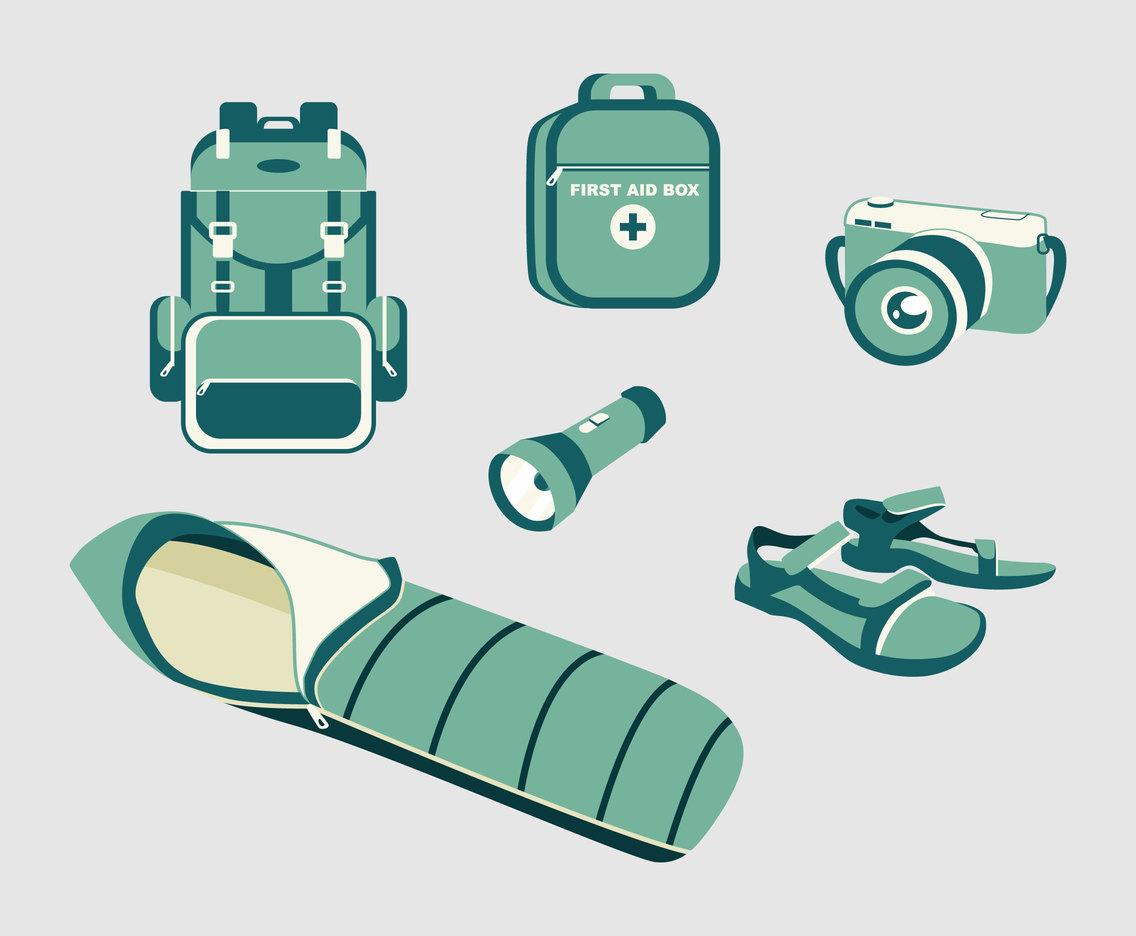 Camper Supplies Vector