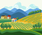 Vineyard Village Vector