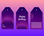 Unique Holiday Gift Tags Vectors