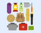 Awesome Camping Supplies Knolling Vectors