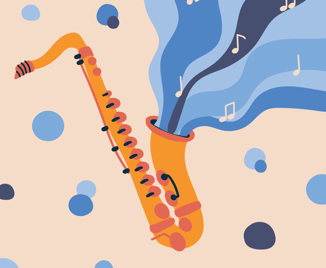 Colorful Saxophone Illustration