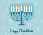 Happy Hanukkah With A Menorah