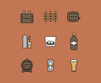 Outlined Alcohol Icon Set
