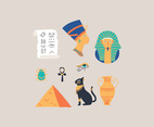 Colorful Egyptian Icons