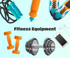 Outstanding Realistic Fitness Equipment Vectors