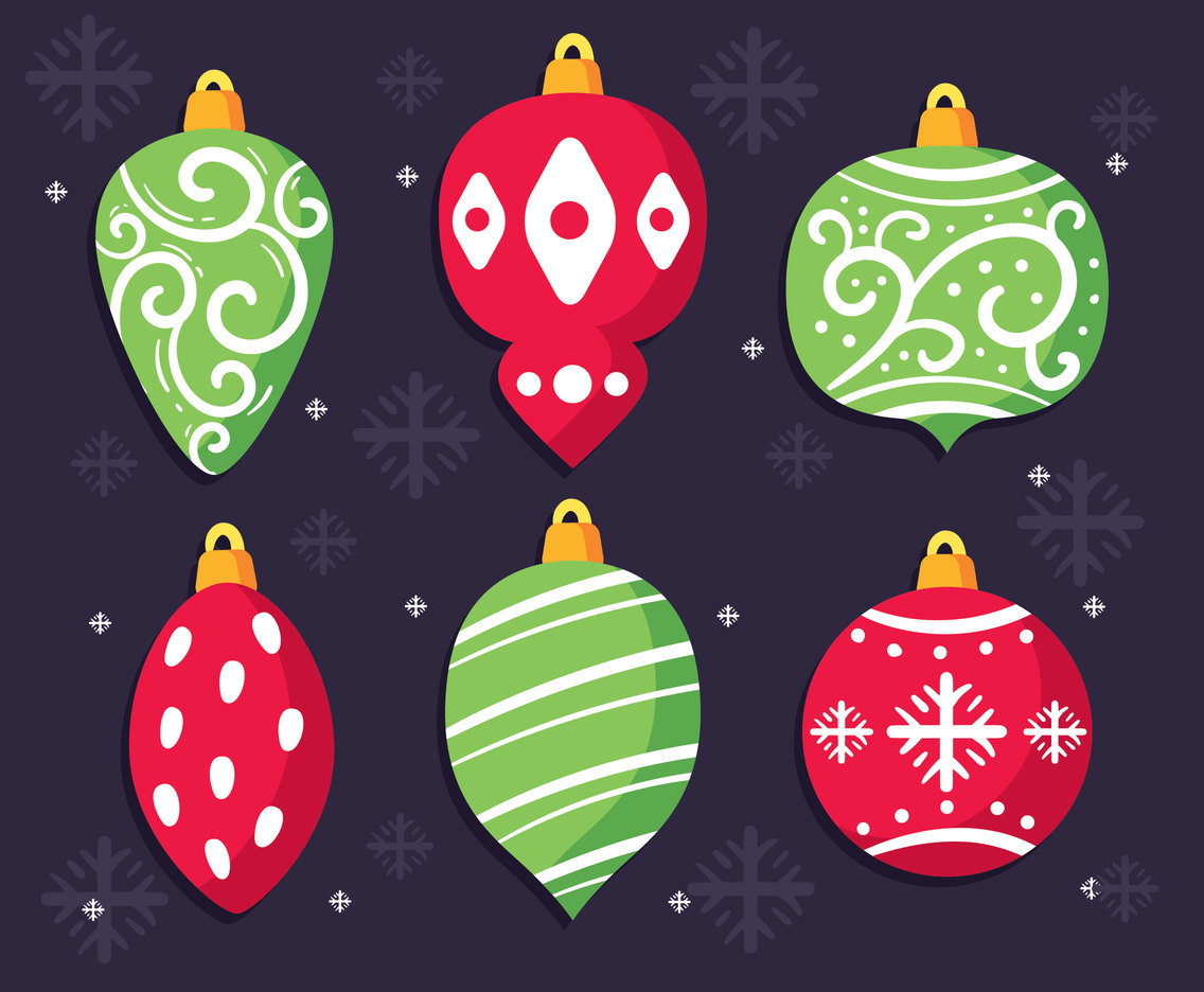 red and green christmas ornament vector vector art graphics freevector com red and green christmas ornament vector