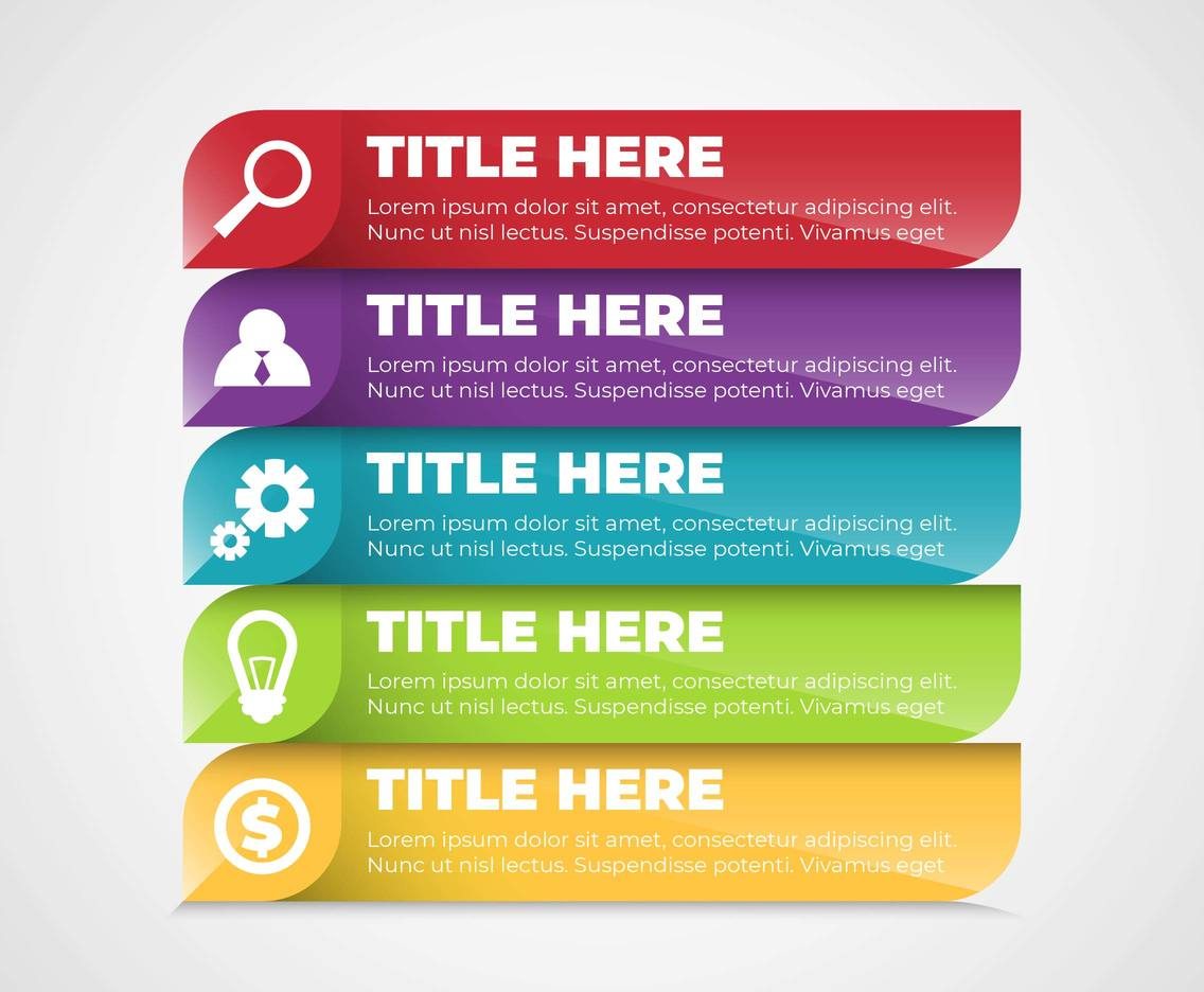 Business Marketing Elements Infographic Vector