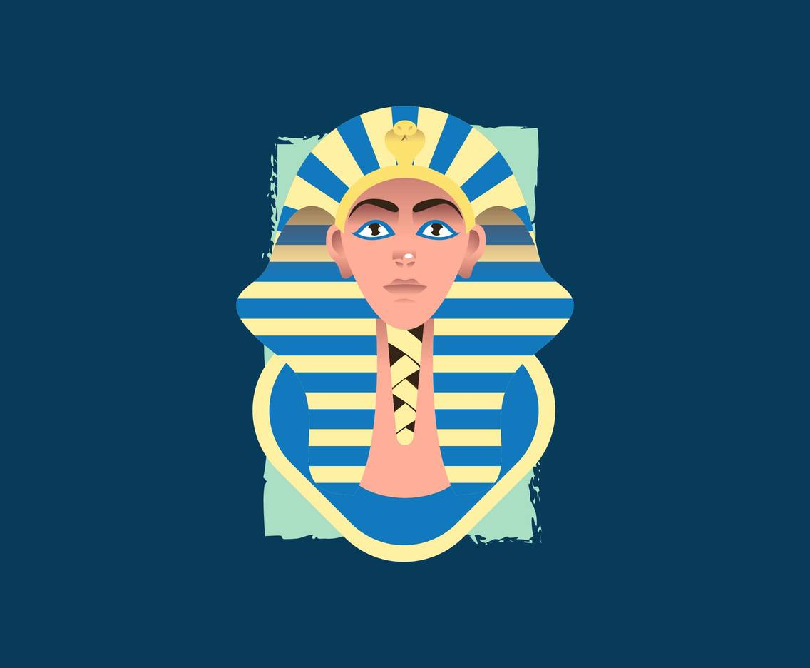Pharaoh Egyptian Illustration Vector