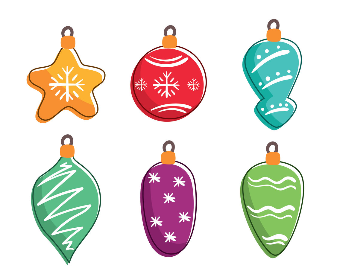 Hand Drawn Christmas Ornament Vector