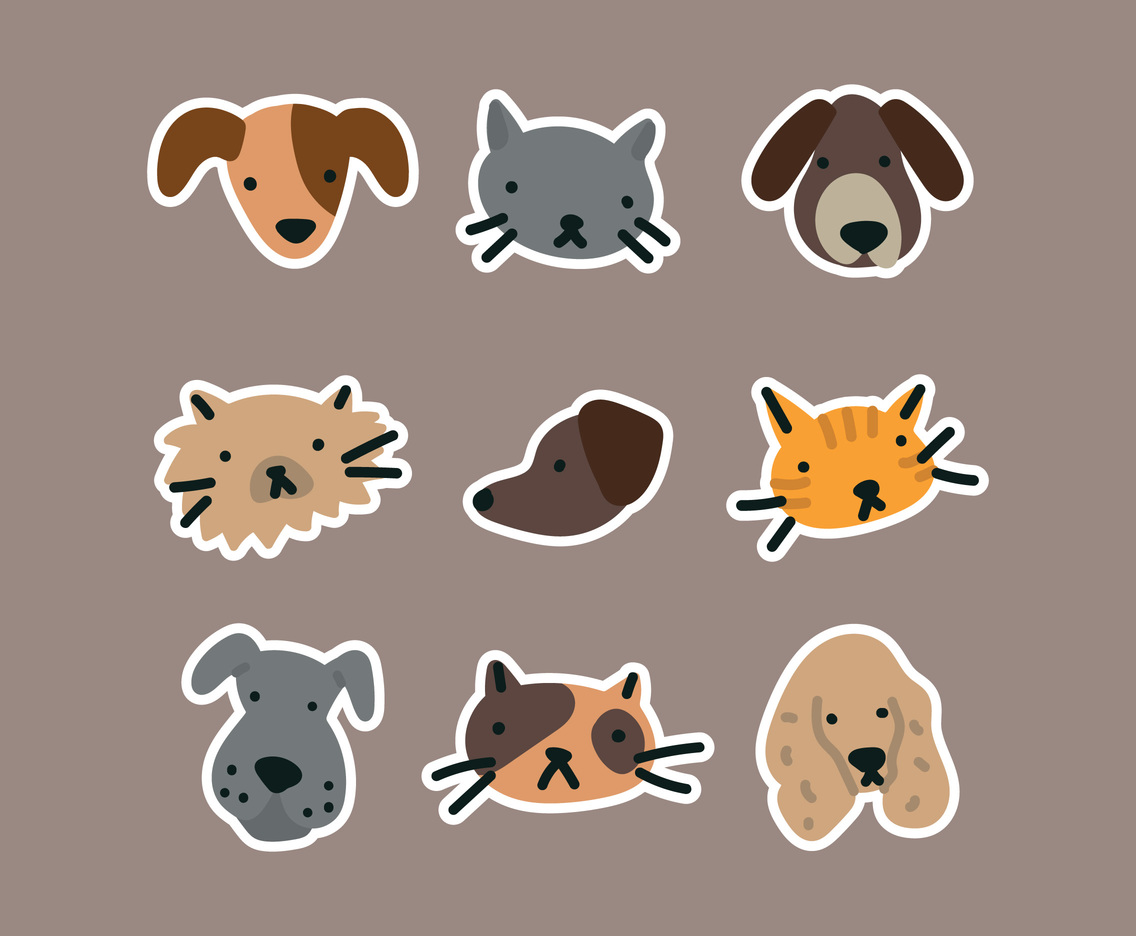 Cute Bold Animal Stickers