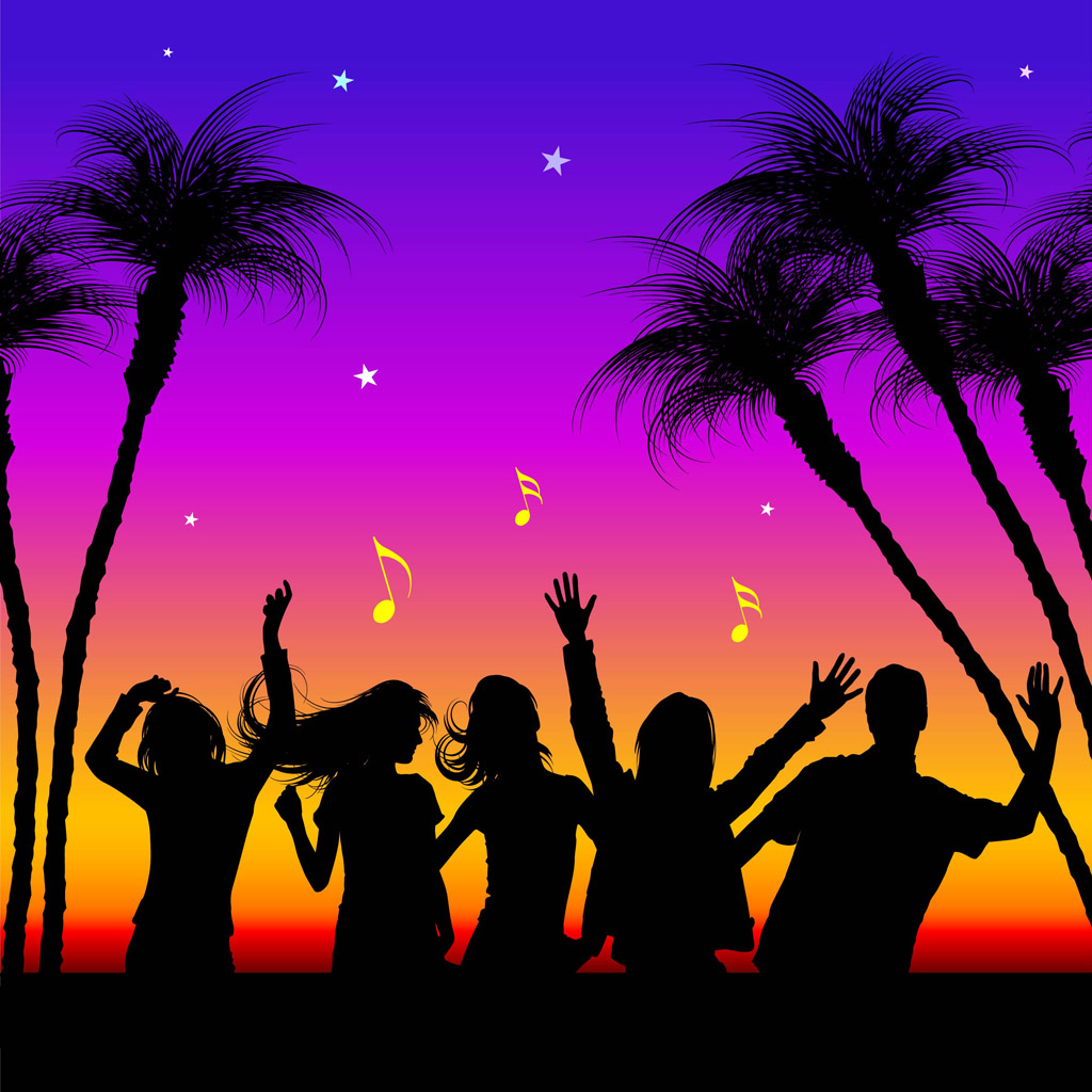 Party People Silhouette Vector Free Party Silhouettes Vectors