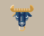 Bull Head Geometric Shape