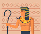 Geometric Pharaoh Vector