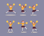 Fun Cheerleaders Vector