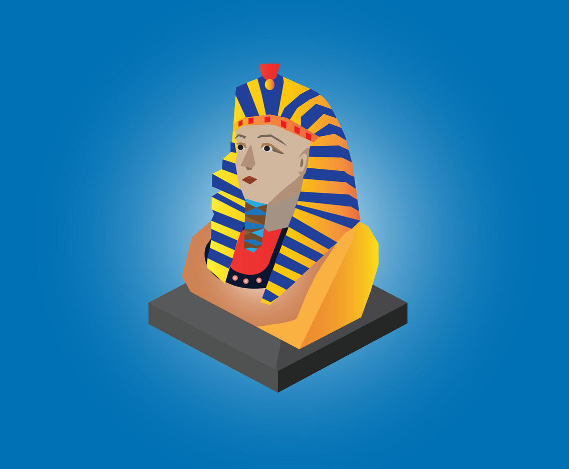 King Pharaoh Vector