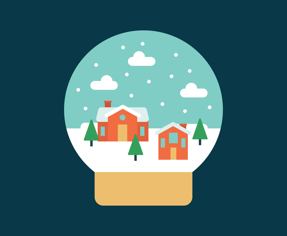 Snow Globe With a Village On It