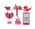 Stylish Valentine Elements Vector