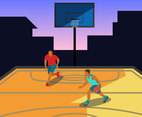 Outdoor Basketball Vector