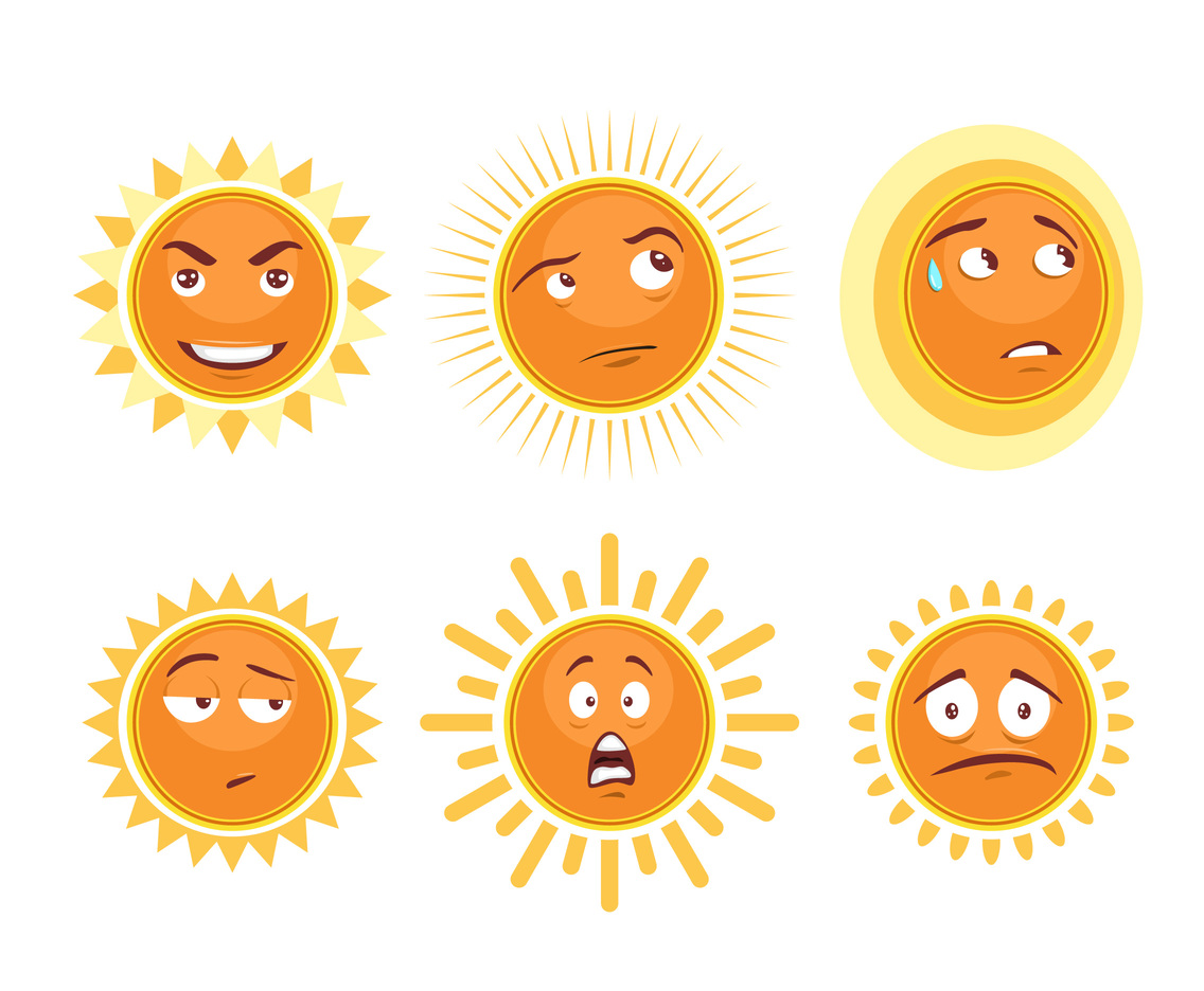 Cartoon Sun Elements Vector