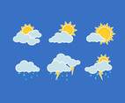 Weather Element Set Vector