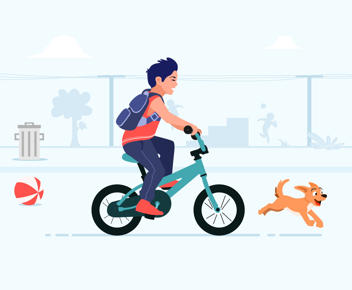 Fun Bicycle Vector