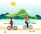Fun Mountain Bike Vector