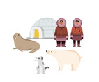 Eskimo Life Illustration Vector