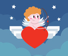 Cartoon Cupid Vector