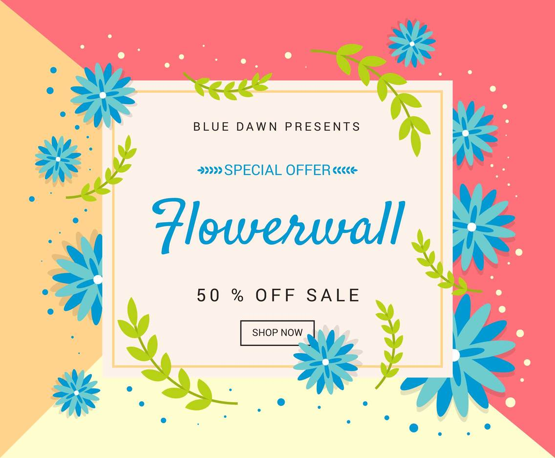 Funky Flower Clipart Set Vector