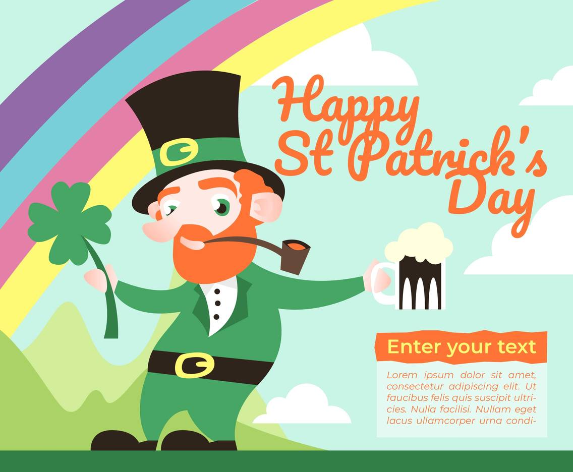 Happy St Patricks Day Illustration Vector