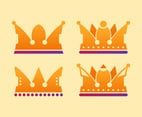Unique Crown Clipart Set Vectors
