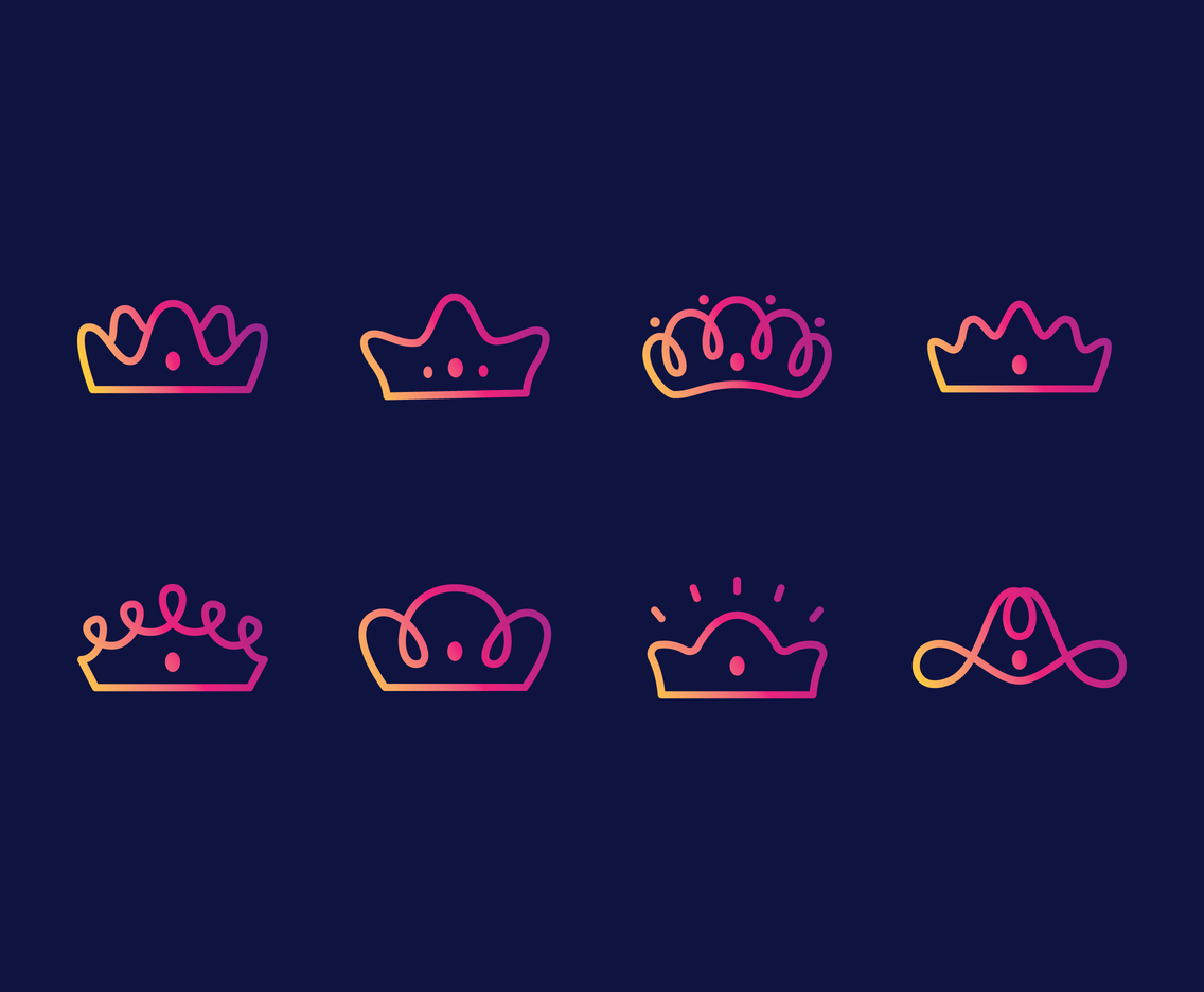 Lineart Crown Set
