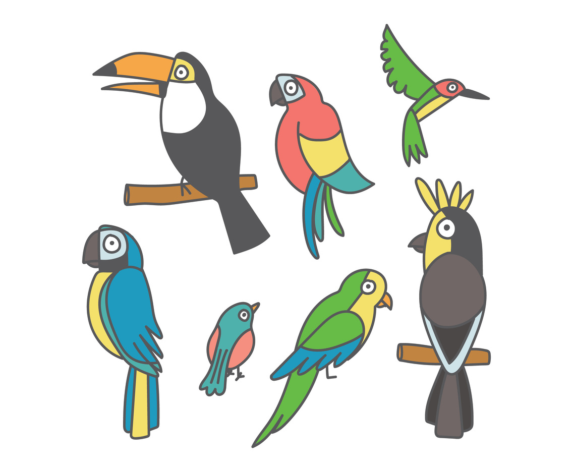 Set Of Clipart Birds