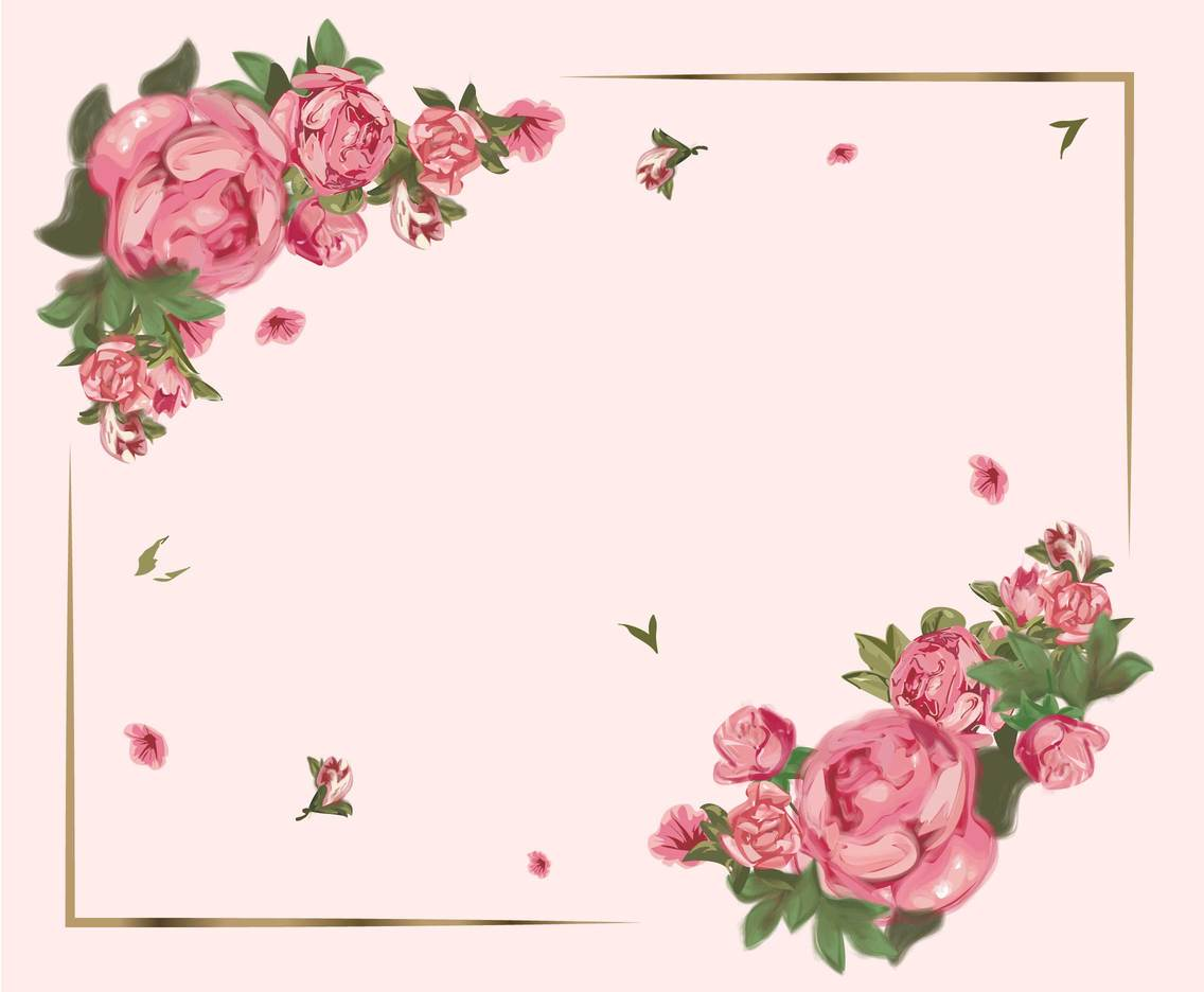 Lovely Rose Flower Background Vector