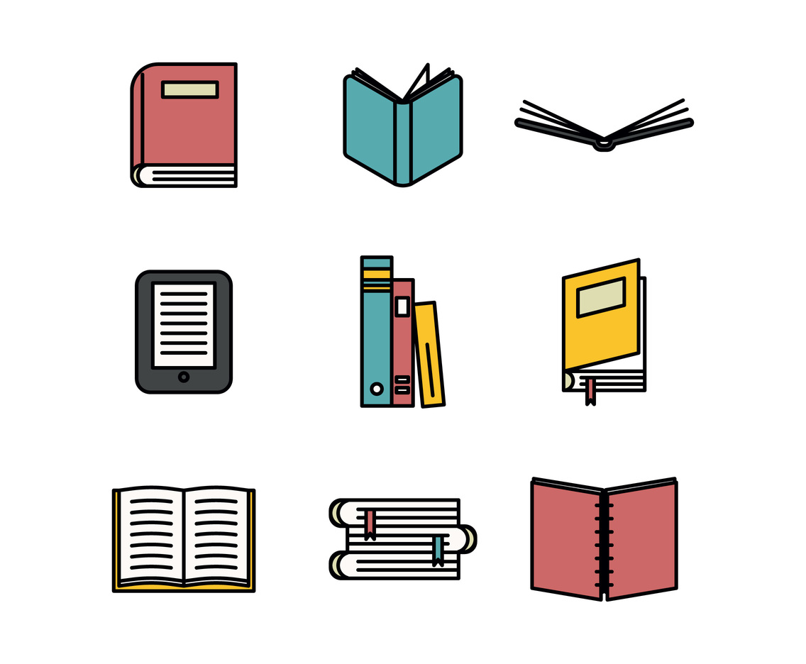 Book Icon Outlined Set