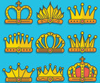 Crown clipart set