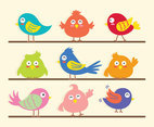 Bird clipart set